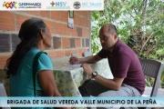BRIGADA DE SALUD EN LA VEREDA VALLE MUNICIPIO DE LA PEÑA