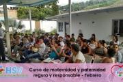 CURSO DE MATERNIDAD Y PATERNIDAD SEGURA Y RESPONSABLE MES DE FEBRERO 2018