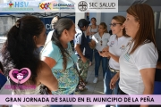 GRAN JORNADA DE SALUD EN EL MUNICIPIO DE LA PEÑA